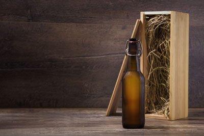 Gavekurv med øl - ølkurv